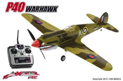Axion RC P40 Warhawk 3ch electro vliegtuig 2,4 ghz RTF
