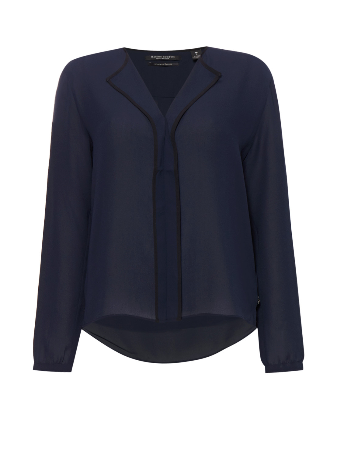 Maison Scotch Boxy blouse met V-hals