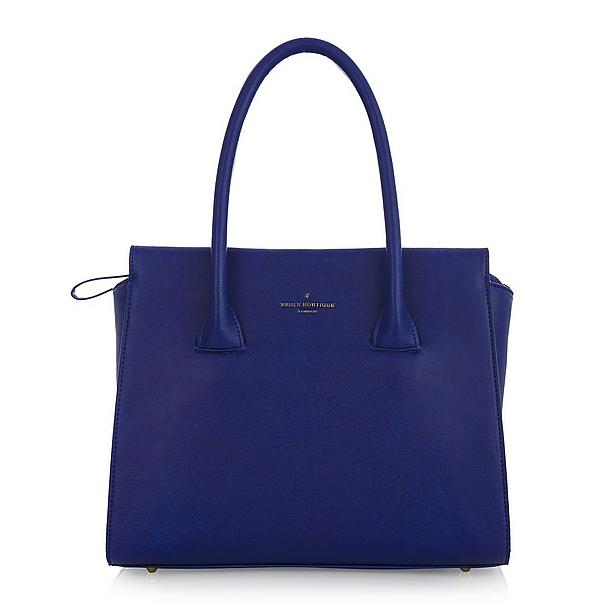 Paul's Boutique tas blauw leer