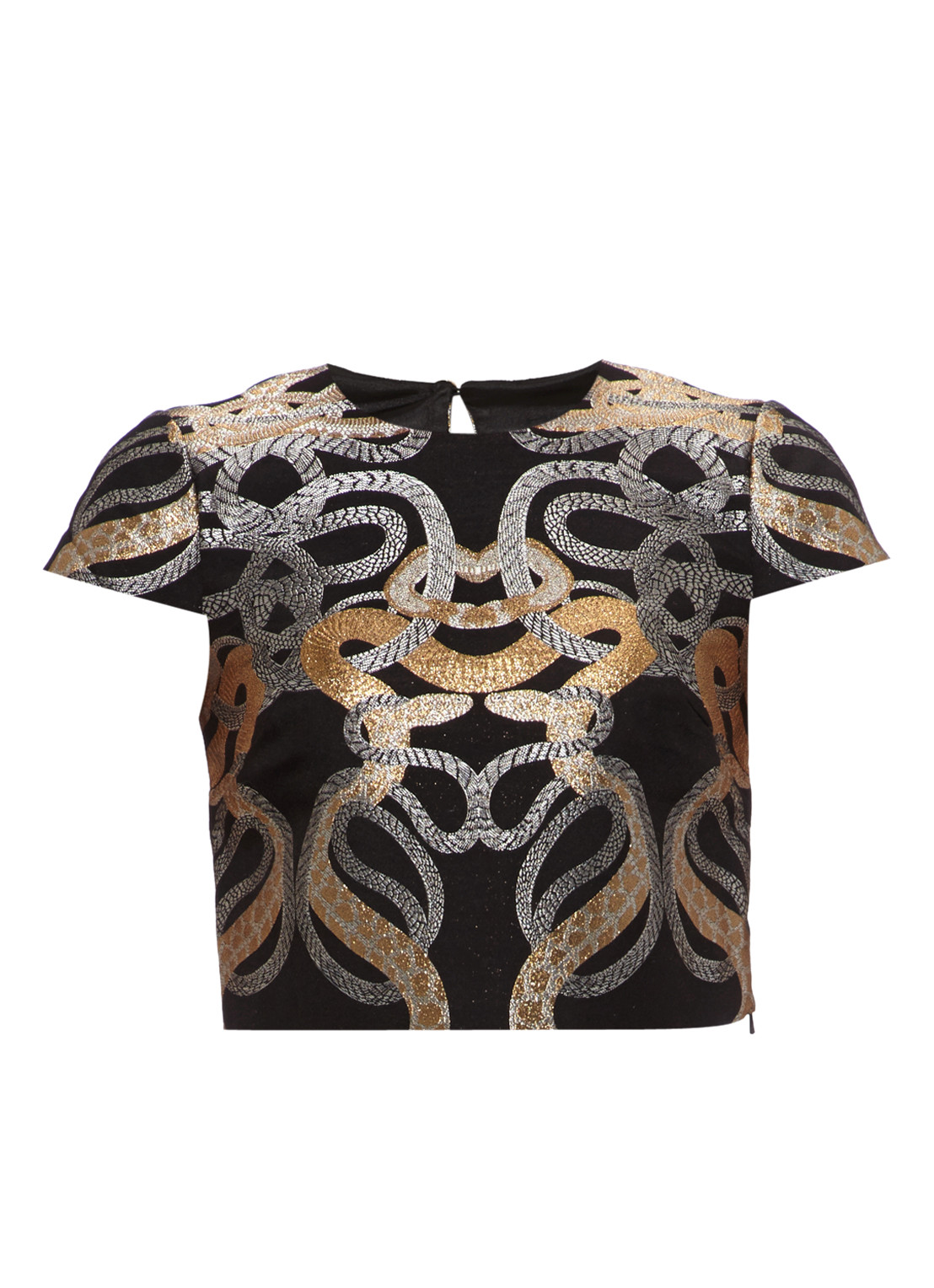 Ted Baker Eowyn jacquard cropped top
